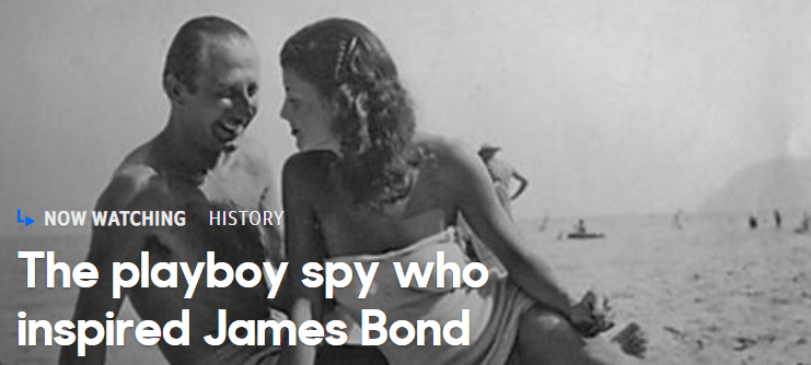 Duskov Popo on the beach in Estoril- the Serbian double agent  that inspired Ian Flemming his James Bond