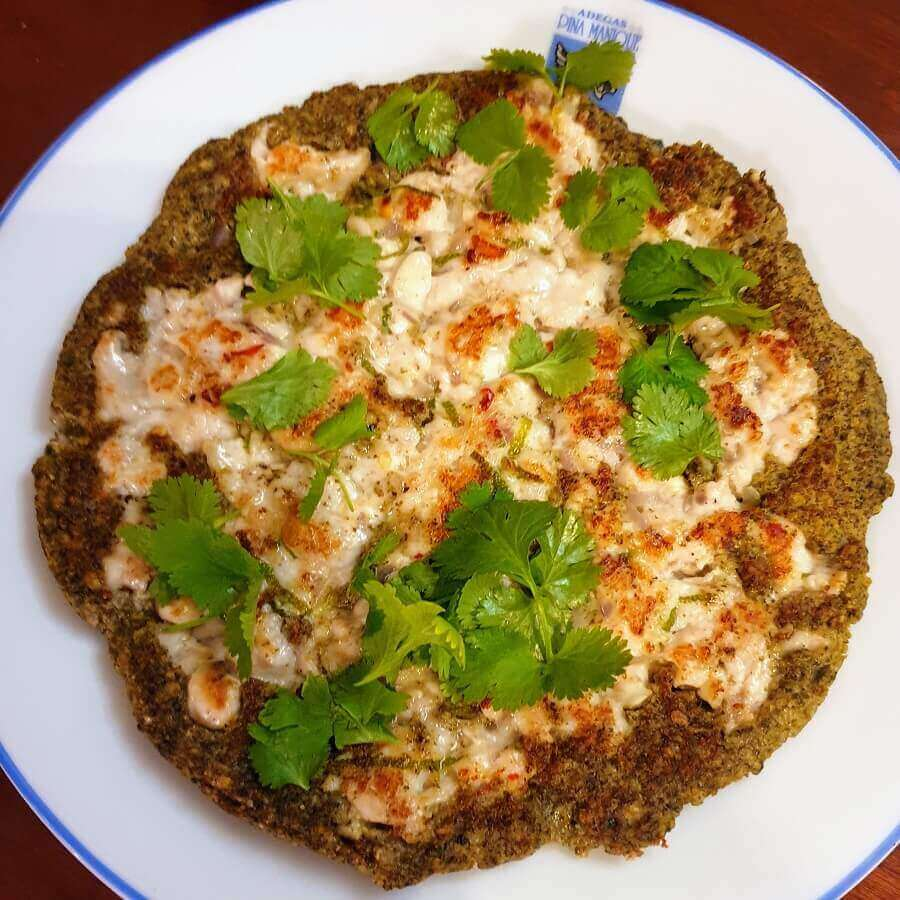 Bara with Lime Chicken topped with coriander
